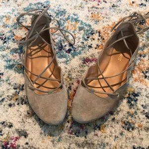 Nine West lace up ballet flats